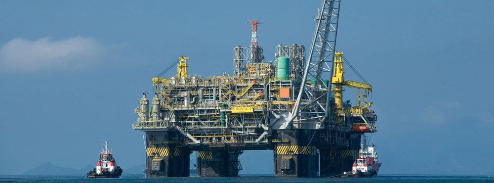 Oil plant on ocean